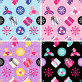 Christmas Seamless background. Holiday pattern Stock Images