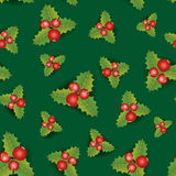 Christmas Seamless Background. Merry Christmas festive endless p Stock Photo