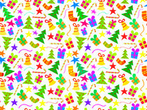 Christmas seamless background. New Year pattern Stock Photos