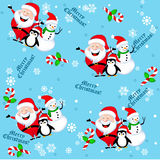 Christmas seamless background Stock Images