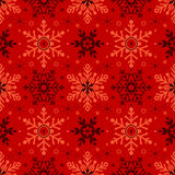 Christmas seamless background with snowflakes Stock Images