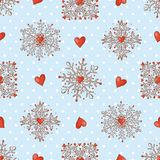 Christmas seamless background with snowflakes Royalty Free Stock Image