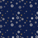 Christmas seamless background with snowflakes. Blue Christmas seamless background with snowflakes vector illustration