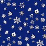 Christmas seamless background with snowflakes. Blue Christmas seamless background with snowflakes stock illustration