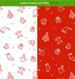 Christmas seamless background stock illustration