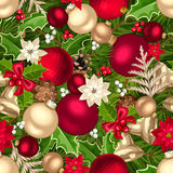 Christmas seamless background. Vector illustration. Stock Images