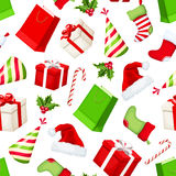 Christmas seamless background. Vector illustration. Royalty Free Stock Image