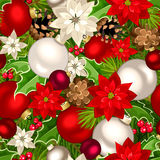 Christmas seamless background. Vector illustration. Royalty Free Stock Photo
