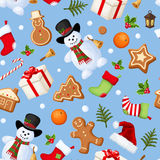 Christmas seamless background. Vector illustration. royalty free illustration