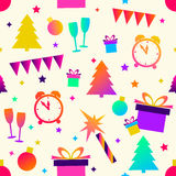 Christmas seamless background, vector image. New year or Christmas seamless background, vector image. Good background for gift packing, or congratulations Royalty Free Stock Images