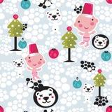 Christmas seamless background. Stock Photography