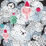 Christmas seamless background. Stock Photo