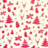 Christmas seamless background. Vintage  pattern Royalty Free Stock Photos