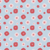 Christmas seamless background with vintage style snowflakes. Illustration can be copied without any seams. Vector eps10. Stock Photo