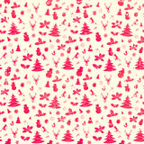Christmas seamless background. Vintage vector pattern Royalty Free Stock Photography