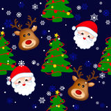 Christmas seamless backgrounds Royalty Free Stock Image