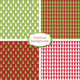 Christmas seamless backgrounds. Set of simple Christmas patterns Royalty Free Stock Image