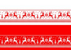 Christmas seamless banners - cdr format. Christmas banners with stylized romanian traditional theme sideways seamless on red and white background Royalty Free Illustration