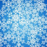 Christmas seamless blue pattern with snowflakes Royalty Free Stock Photo