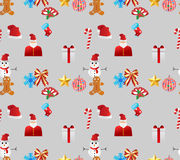 Christmas seamless boarder Stock Image