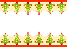 Christmas seamless border Royalty Free Stock Images