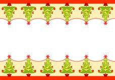 Christmas seamless border royalty free illustration