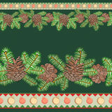 Christmas seamless border. For textiles and gift packaging designs Stock Image