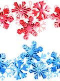 Christmas seamless border with  snowflakes Stock Photos