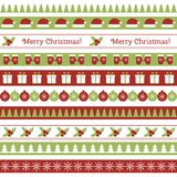 Christmas seamless borders Stock Photo