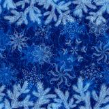 Christmas seamless, branches and snowflakes Stock Photos