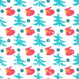 Christmas seamless color pattern Royalty Free Stock Photography