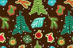 Christmas seamless cute pattern. Royalty Free Stock Photos