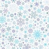 Christmas seamless doodle pattern with snowflakes Stock Images