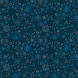 Christmas seamless doodle pattern with snowflakes Stock Photography
