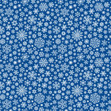 Christmas seamless doodle pattern with snowflakes Stock Photo