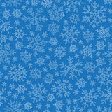 Christmas seamless doodle pattern with snowflakes Royalty Free Stock Photo