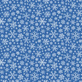 Christmas seamless doodle pattern with snowflakes Royalty Free Stock Photography