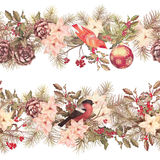 Christmas Seamless Garland Royalty Free Stock Photo