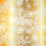 Christmas seamless golden pattern Stock Photography