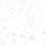 Christmas seamless gray pattern Stock Images