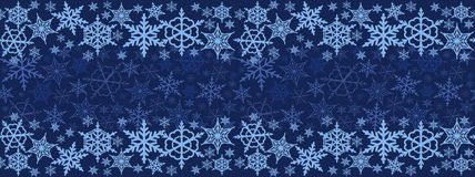 Christmas seamless horizontal pattern. colorful snowflakes Royalty Free Stock Image