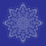 Christmas seamless icon with snowflakes. Vector illustration royalty free stock photography