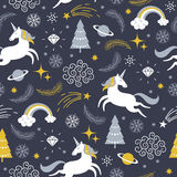 Christmas seamless illustration Stock Images