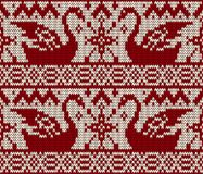Christmas seamless knitted background. Stock Images