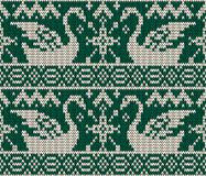 Christmas seamless knitted background. Royalty Free Stock Photos