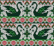 Christmas seamless knitted background. Royalty Free Stock Image