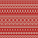 Christmas seamless knitted pattern in Fair Isle style. Nordic christmas traditional Fair Isle style seamless pattern on the wool knitted texture. EPS available Royalty Free Stock Photos