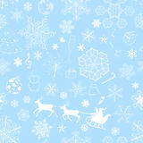 Christmas seamless light blue pattern Stock Image