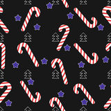 Christmas seamless lollipop pattern Royalty Free Stock Photos