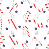 Christmas seamless lollipop pattern Royalty Free Stock Photography